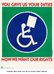 Poster: You gave us your dimes - now we want our rights